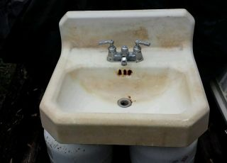 Vintage Porcelain Cast Iron Sink 22
