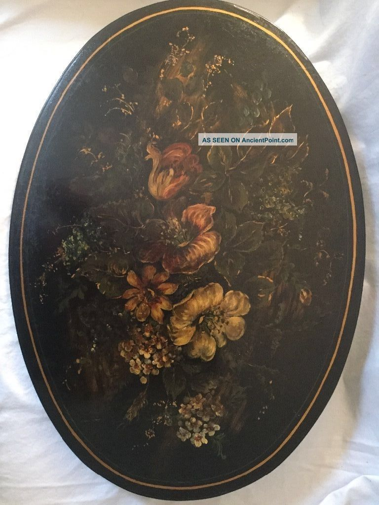 Antique Pole Fire Screen Wrought Iron Hand Painted Circa 1880 ' S Hearth Ware photo