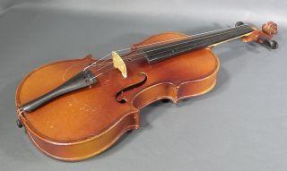 Antique German Antonius Stradivarius 1717 Violin 3/4 Fiddle Concert Instrument photo