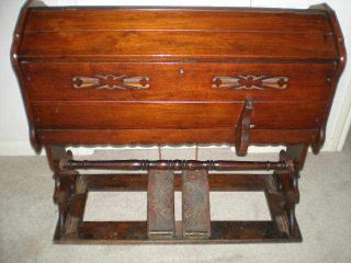 Antique Reed Or Pump Organ,  Traveling /folding Organ 1890s photo