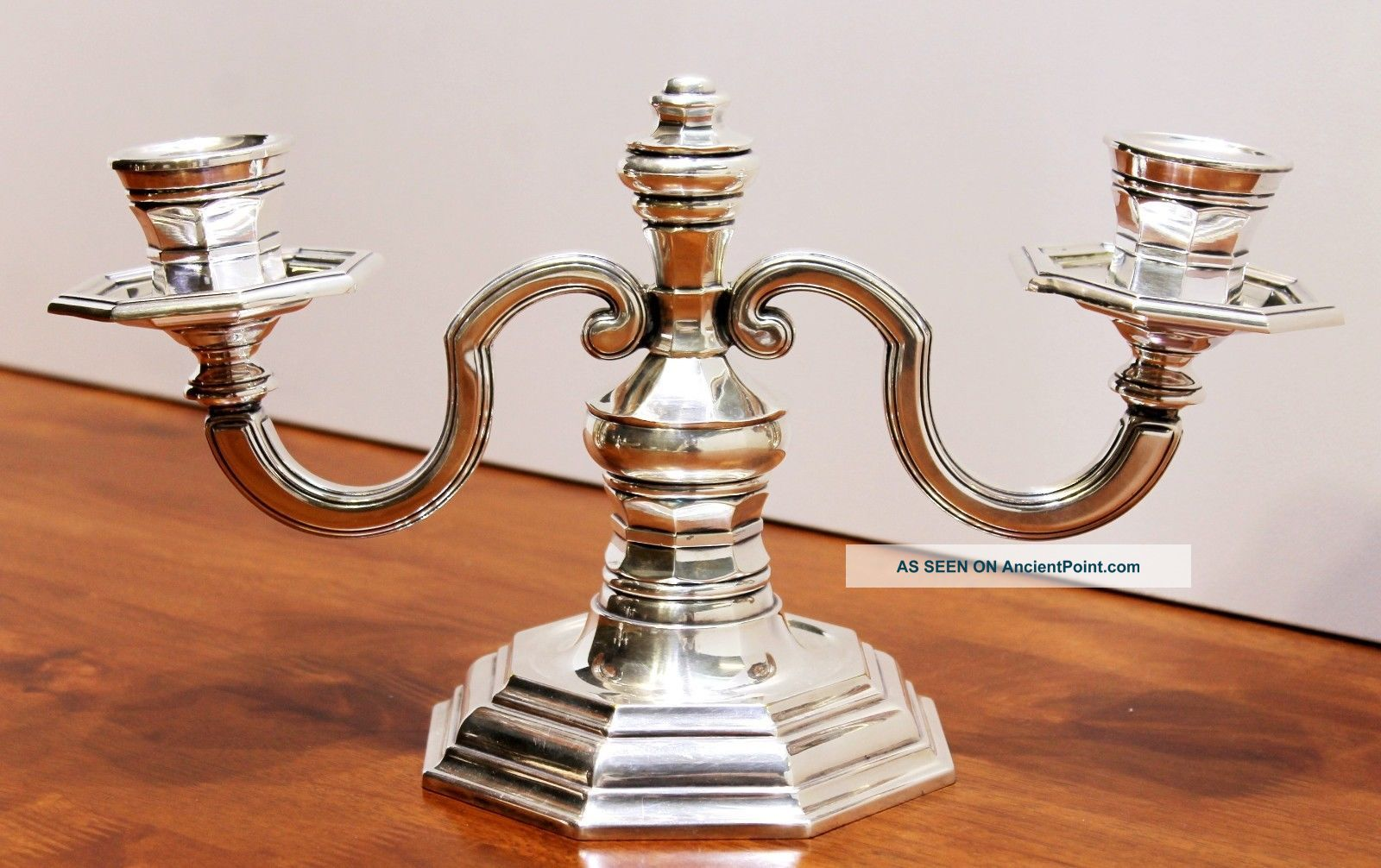 Magnificent Christofle Gallia Silver - Plated Candelabra Candle - Stick 2 - Arm Candlesticks & Candelabra photo