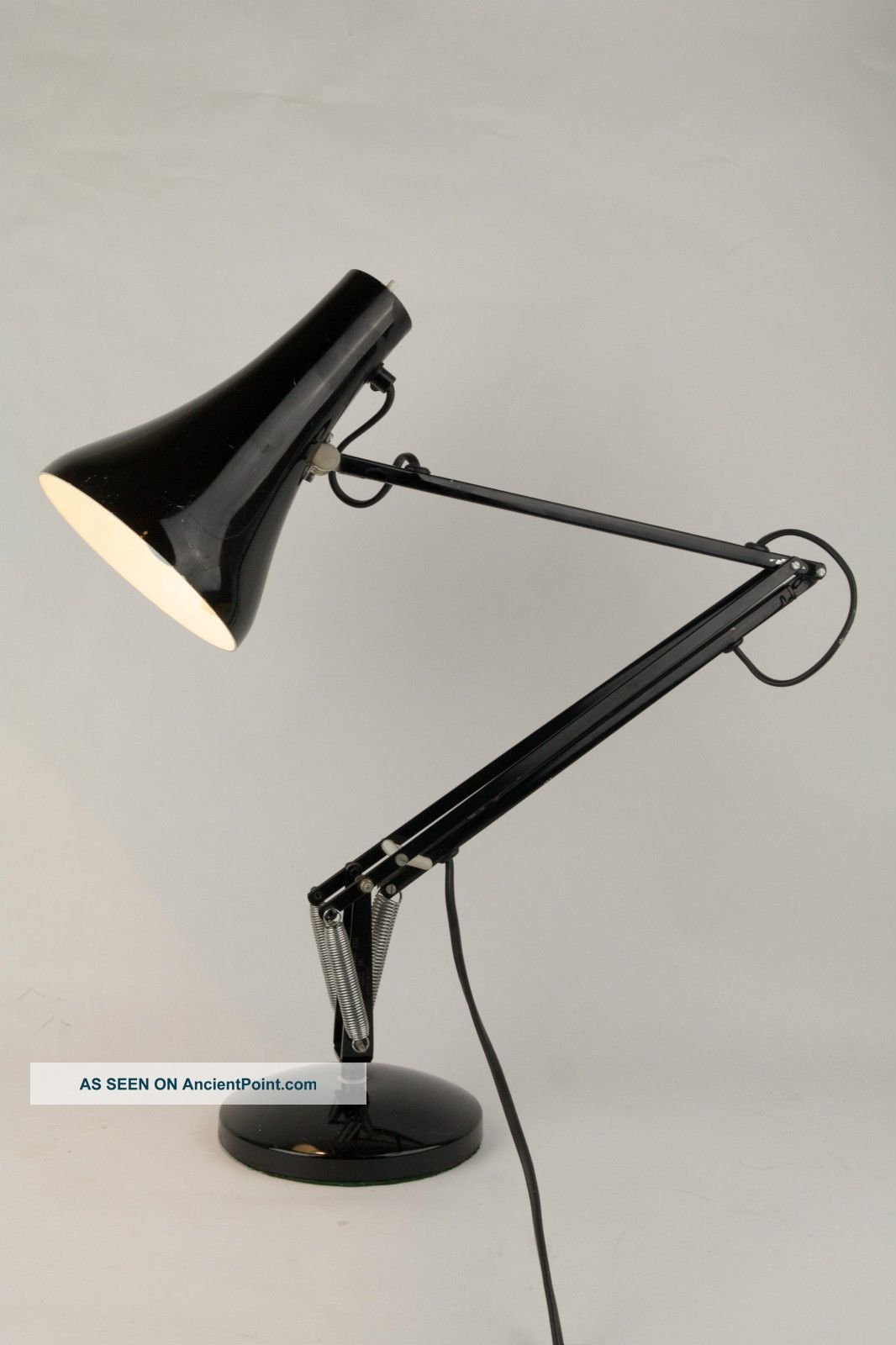 Vintage Herbert Terry & Sons Anglepoise Model 90 Lamp In Black - Made In England 20th Century photo