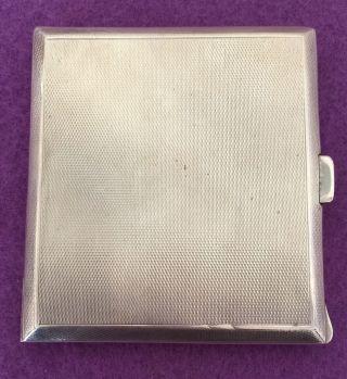 Vintage Sterling Silver Birmingham Ciggarret Case 86.  2 Grams photo