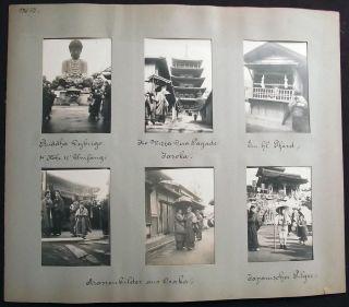 1904 6 Orig Photos Window Matting Japan Osaka Jasoko Holy Horse Pilgrims photo