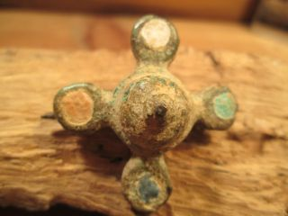 Ancient Roman Brooch A 4 Color Enameled Bust Museum Quality Exact ' Reproduction ' photo