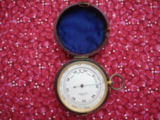 1901 Cased Pocket Barometer/altimeterin Order photo