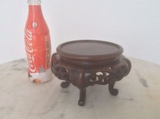Antique Chinese Carved Hardwood Stand photo