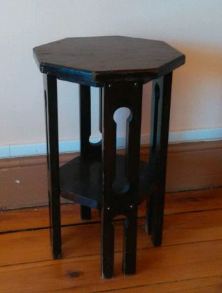 Antq Mission Arts & Crafts Plant Stand Taboret photo