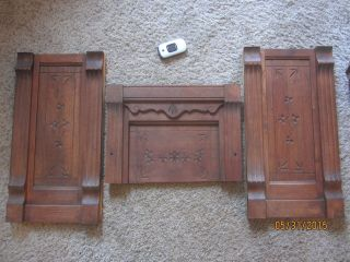 1800s Eastlake Spoon Carved Architectural Panels Victorian Furniture Pediments photo