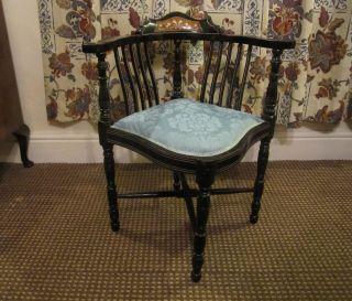A Edwardian Corner Chair photo