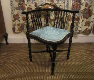 A Edwardian Corner Chair photo