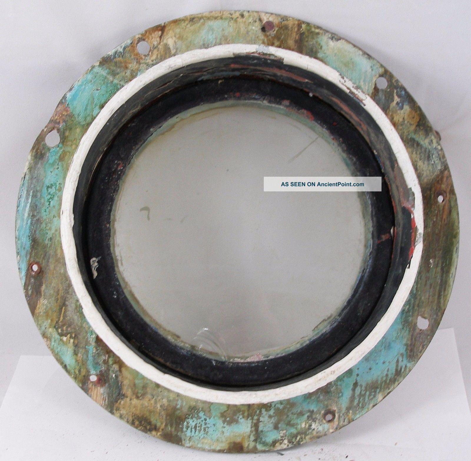 Antique Bronze Porthole,  Salvaged Porthole Nautical 10