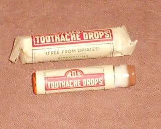 C1915 Antique Medicine Bottle - Ads Toothache Drops American Druggists Syndicate photo