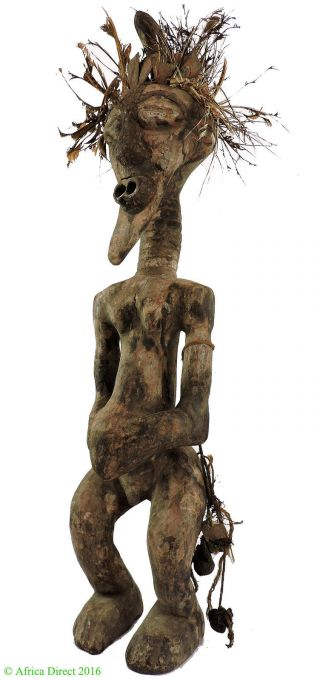 Songye Power Figure Nkishi With Feathers Congo African Art photo