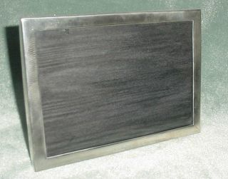 Old Sterling 925 Hallmarks Crystal Glass Two Positions Picture Frame 7