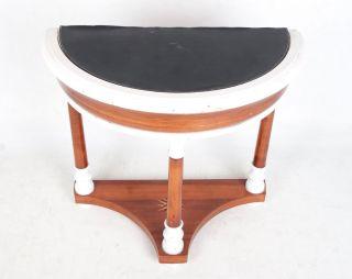 Antique Hall Table D Shape Swedish Biedermeier Console Table Mahogany Demi Lune photo