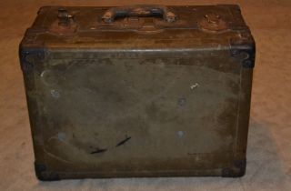 Vintage Olive/tan Military Style Equipment Storage Case,  Trunk,  Suitcase photo