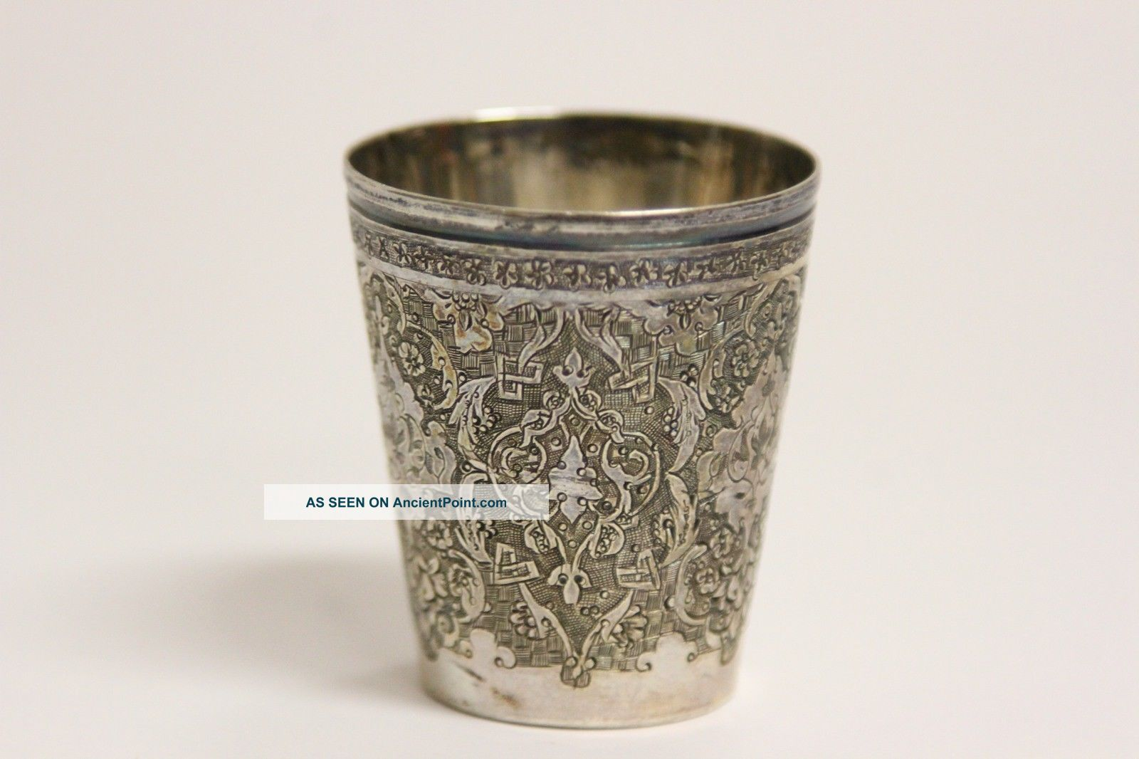 Antique Highly Detailed Ornate Small Silver Cup Sterling? Silverplate Silver Alloys (.800-.899) photo