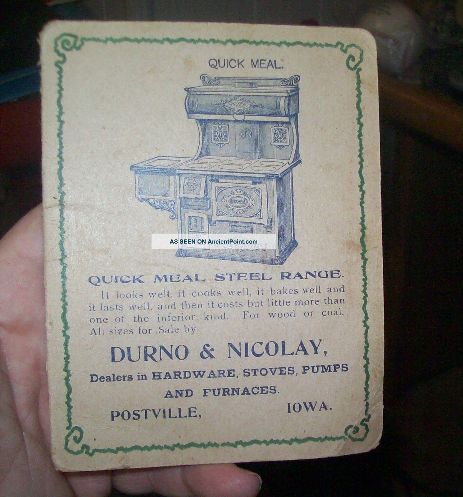 1905 Durno & Nicolay Hardware Stoves & Furnaces Sewing Needle Kit Postville,  Ia Needles & Cases photo