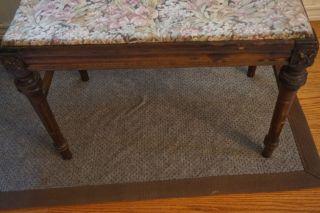 Vintage Mahogany Vanity Bench photo