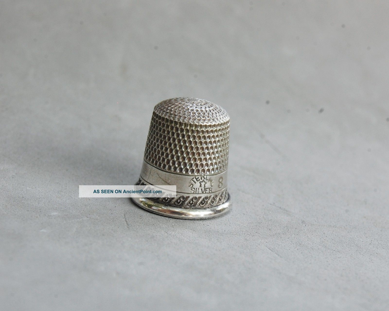 Thimble Sterling Silver Child Size Small