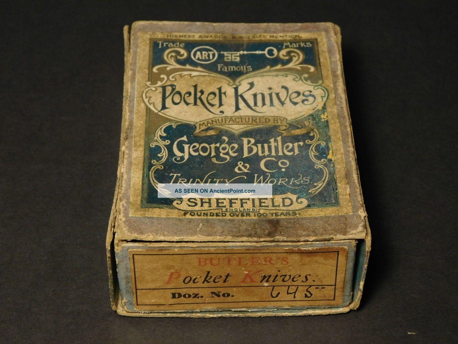 George Butler & Co.  Trinity Pocket Knives Box Of Harness Awls Needles Needles & Cases photo