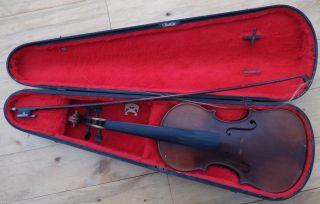 Antique Handmade Violin,  Dated 1900 Signed J & G Goehner,  Minneapolis Minn Nr photo
