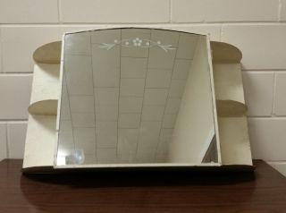 Vintage Antique Mid Century Bathroom Medicine Cabinet Shabby Mirror photo