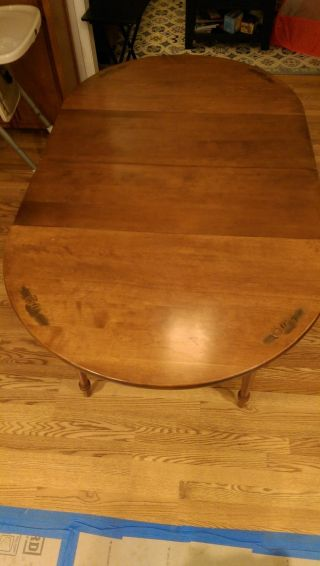 Hitchcock Dining Table - Vintage Maple Table With 2 Leaves - P/u In Maryland - Obo photo