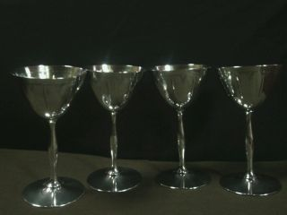 (4) Vtg.  Wm Rogers & Sons Silver Plated