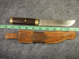 Fur Trade Era Indian Sheath & Trade Knife Brass Collars Hb Hudsons Bay photo