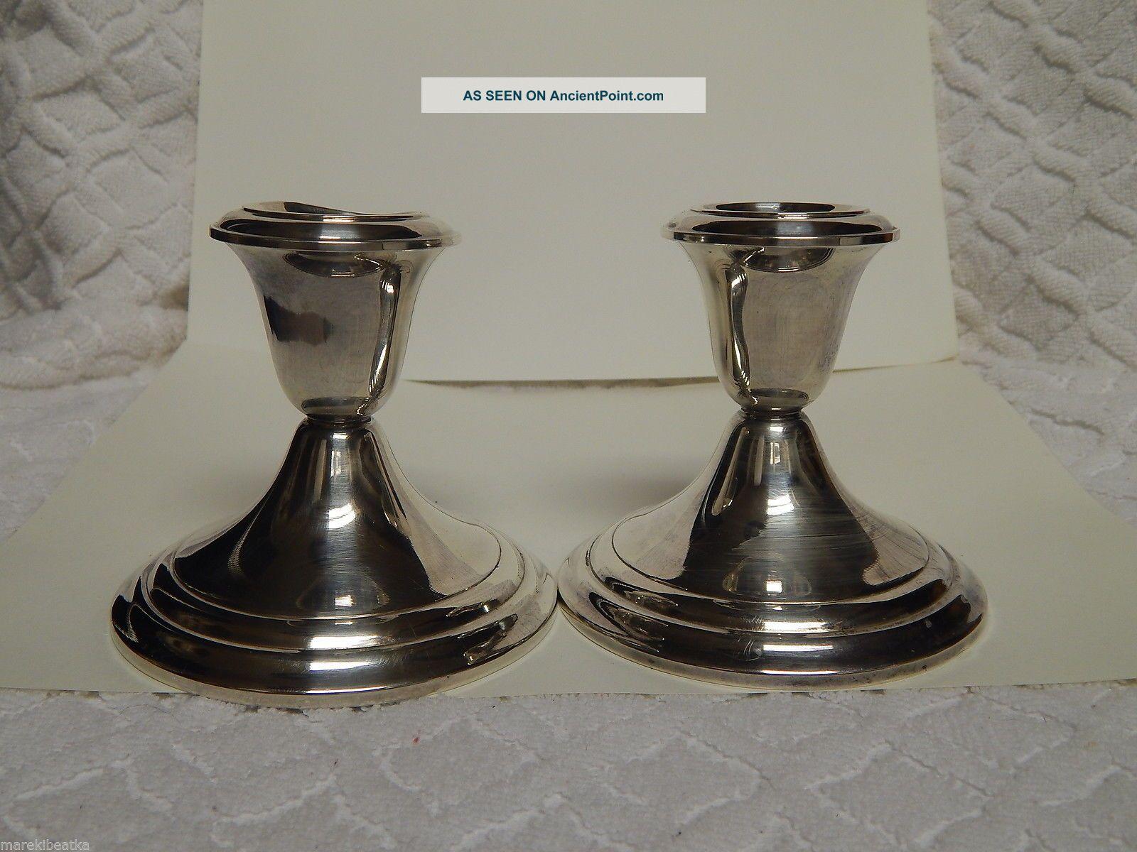 Gorham Sterling Silver Candlesticks 661,  Scrap Or Not Candlesticks & Candelabra photo