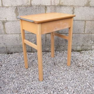 Single School Desk - Adult Tall Height - Wood photo