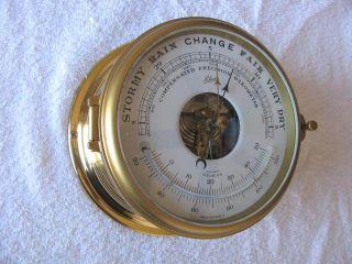 Vintage Ships Clock Barometer Schatz,  Mariner,  Service photo