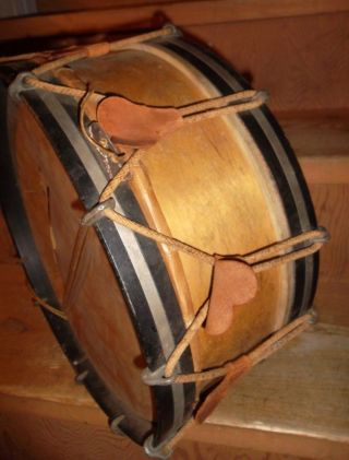 Antique Rope Tension Snare Drum,  1890s To The Turn Of The Century photo