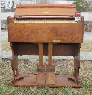 Rare Antique Tent Revival Itinerant Preacher ' S Estey Folding Travel Organ Nr Yqz photo