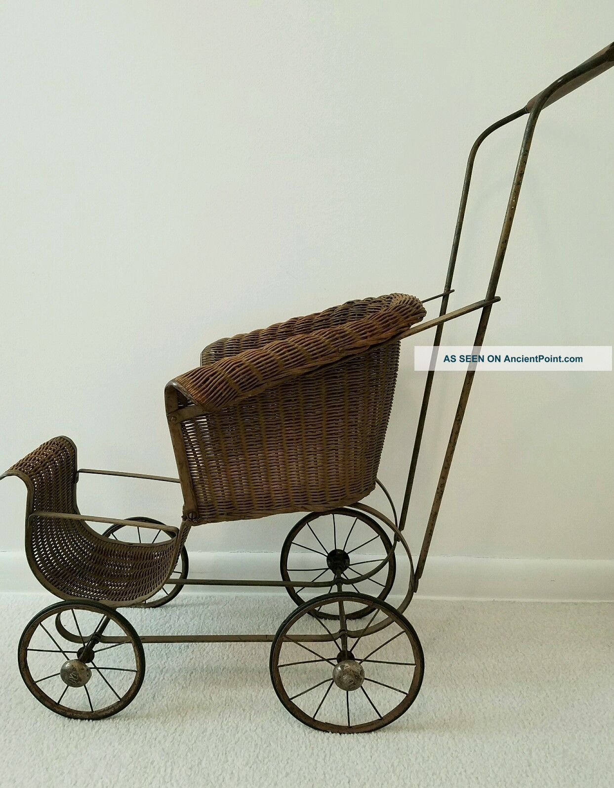 Vintage Wicker Baby Doll Carriage Baby Carriages & Buggies photo