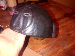 Rare Ifugao Hand Carved Wooden Tribal Hat photo
