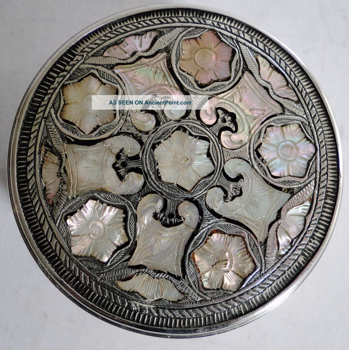 Early Exceptional Gem Quality Austrian Silver Tortoise Shell Mop Snuff Box 1770 France photo