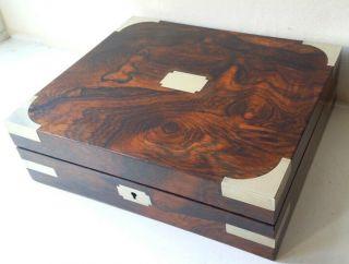 Victorian Brass Bound Brazilian Rosewood Science Box Tool Box photo