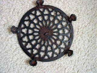 Antique Cast Iron Trivet 5 3/4
