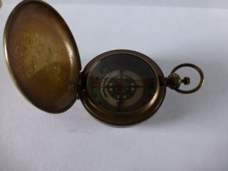 Military Field Compass ? By Stanley London Engraved Inside Capt J.  S.  Copper S.  A. photo