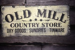 Handmade Sign Country Store Primitive Rustic Country Home Decor photo