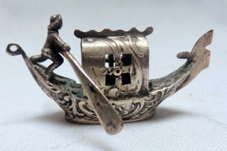 Miniature German Silver Gondola Marked