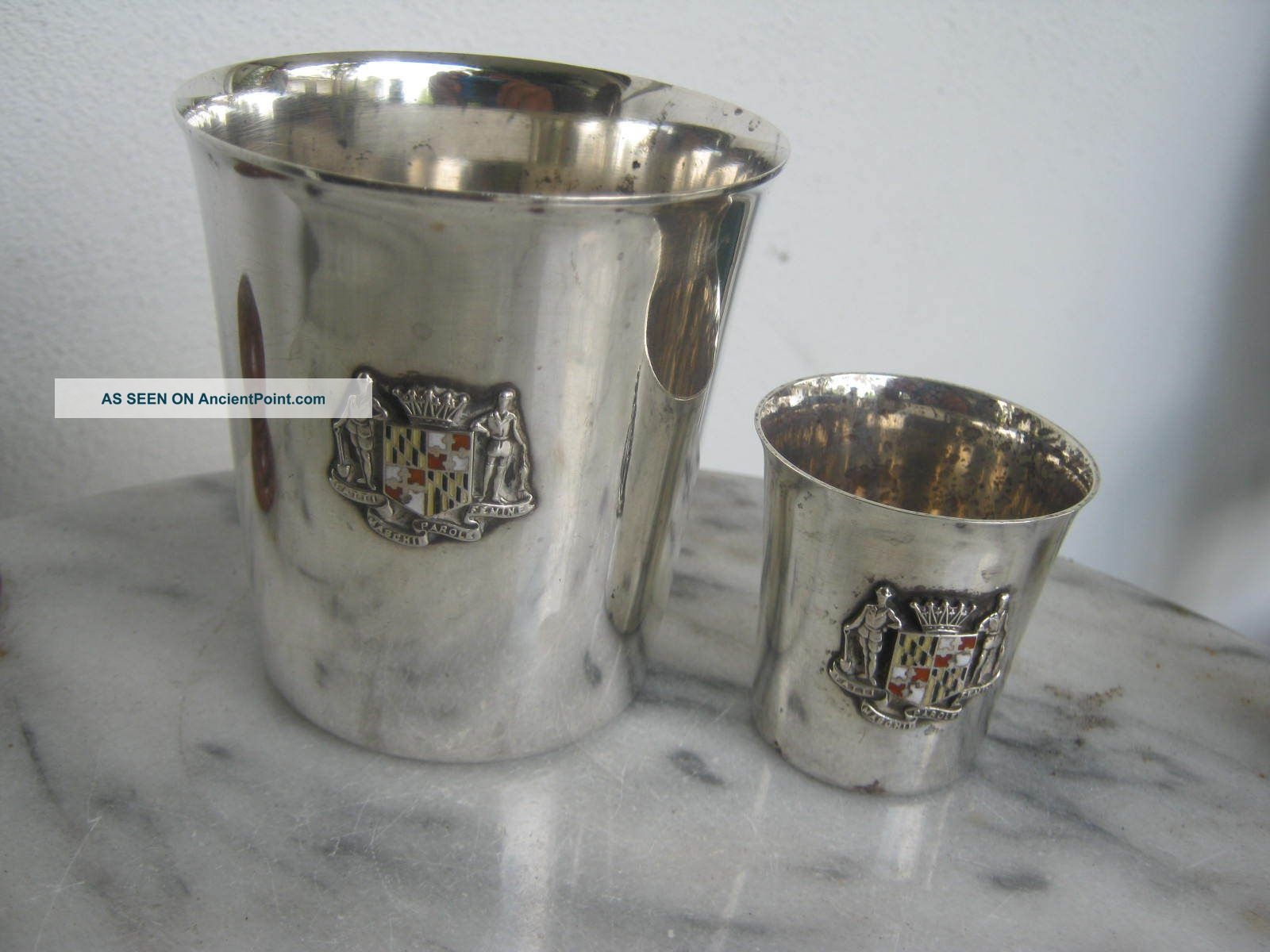 S.  Kirk And Son Sterling 925 Julep Cup,  Matching Shot Glass 283a 254 146gr Cups & Goblets photo