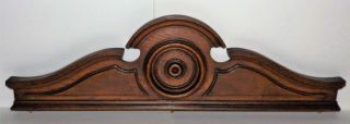 Antique 1800 ' S Victorian Oak Wood Crown Architectural Crest Furniture Pediment photo