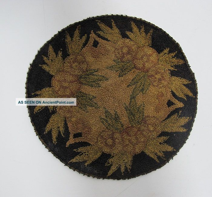 Antique Point De Beauvais Delicate French Link Stitch Embroidery Table Mat 1 Yqz Embroidery photo