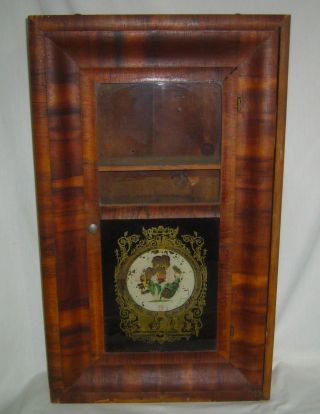Antique E.  N.  Welch Weight Clock Case Converted To Cupboard Medicine Cabinet photo