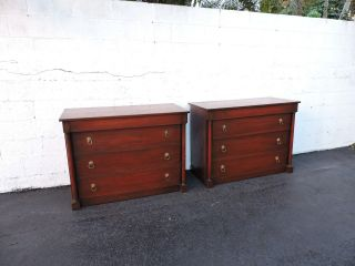 Brass Inlaid Mahogany Dressers 7372x photo
