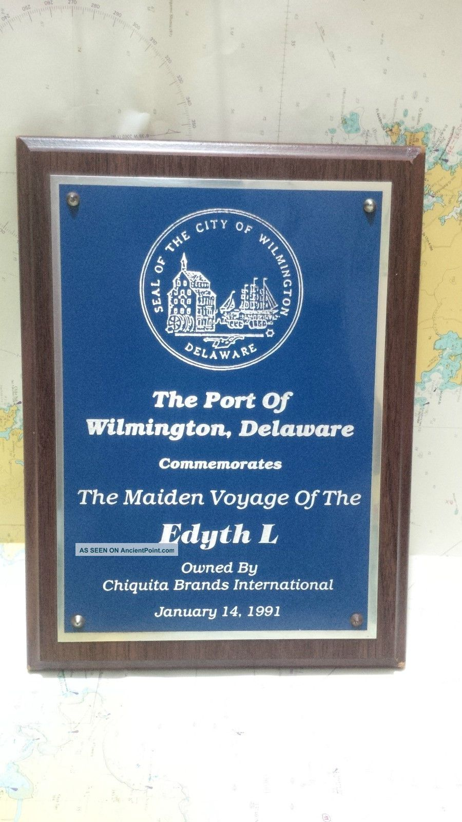 Nautical Vintage  The Port Of Wilmington Delware Edyt L  Eccentric Shield S082 Plaques & Signs photo